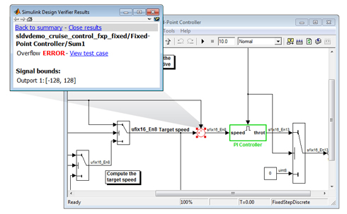 「Simulink Design Verifier 2.0」の画面イメージ