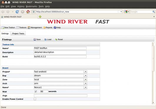 「Wind River FAST」の画面イメージ