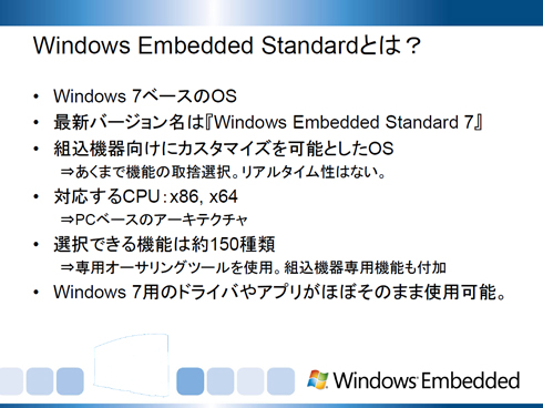 Windows Embedded Standardとは?