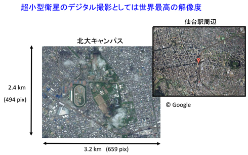 5mの地上分解能が実現できれば、撮影画像はこのようなイメージになる