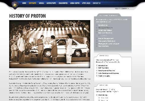 PROTON社のWebページ