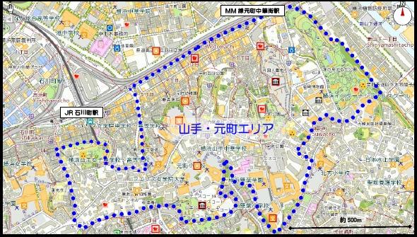 横浜市内の実験エリア