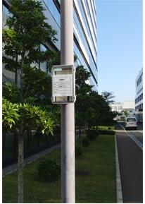 屋外に設置したスマートメーター用通信ユニット