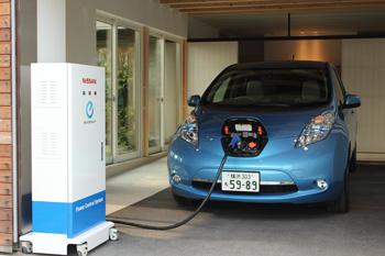 EVから家庭へ電力を供給するシステム