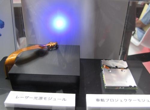 「ARHUD」のレーザー光源とプロジェクタモジュール