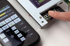 ボード上のプッシュスイッチの操作をAndroidの画面に表示