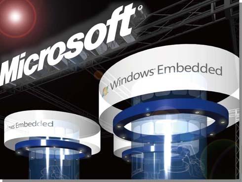 日本マイクロソフトのブース「Windows Embedded パビリオン」(外観)イメージ
