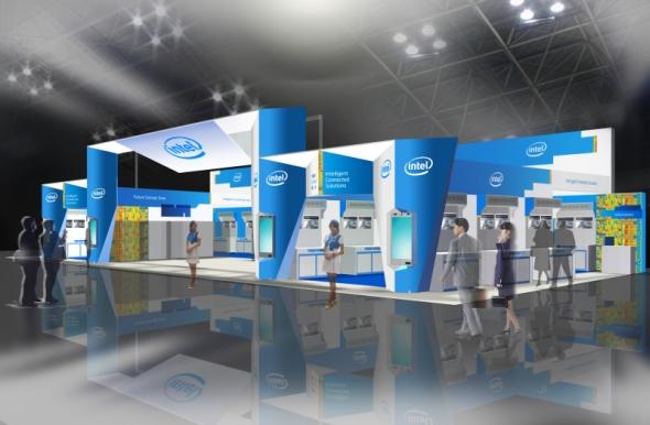 図1 「Embedded Technology 2011」におけるインテルの展示イメージ