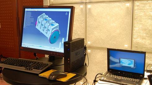 CAD on Desktop Cloudのデモ