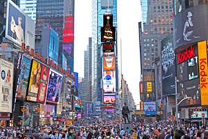米国ニューヨークのワン・タイムズスクエアビル
