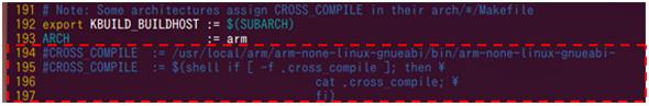 カーネルのクロスコンパイラの指定を環境変数で行えるようにする