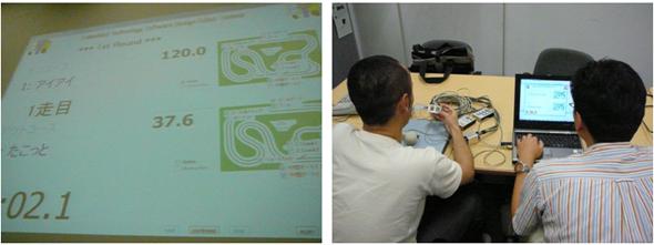 2007年当時の画面と開発風景