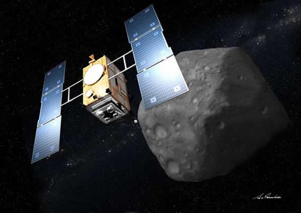 小惑星1999JU3に向かう「はやぶさ2」の想像図