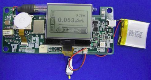 携帯型GPS搭載放射線測定ロガー(試作モデル)
