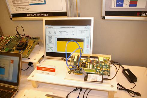 Xilinx 7シリーズが持つ数々の省電力機能の効果をグラフィカルに示すデモ