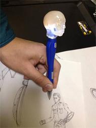 スワニーが製作した頭脳ペン(MONOistの記事企画より)