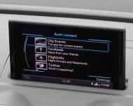 「Audi Connect」のサブメニュー