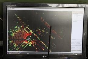 次元レーザースキャナで撮影した周辺映像