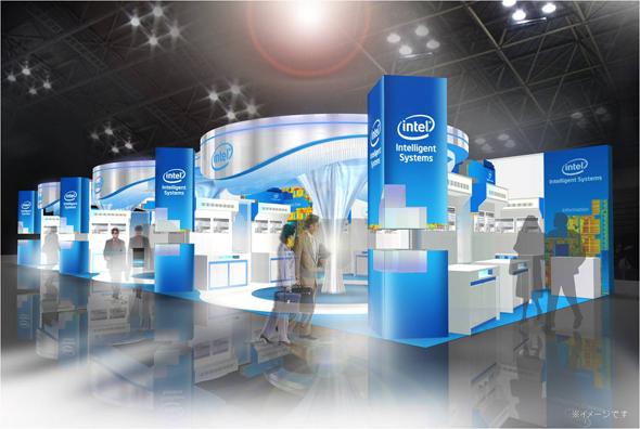 ESEC2012のインテル・ブースの外観