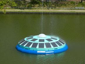 太陽光発電水浄化システム「ソーラーUFO」