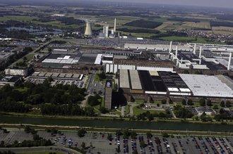 フォルクスワーゲンの本社と本社工場の全景