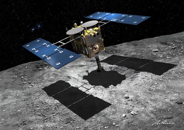 小惑星探査機「はやぶさ2」のイメージ画像