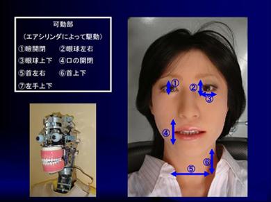 患者ロボットの駆動可能部位