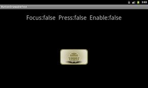 ボタンをsetEnable(false)で使用不可にした状態