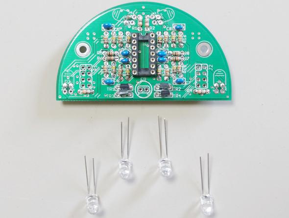 LEDのリードを曲げる