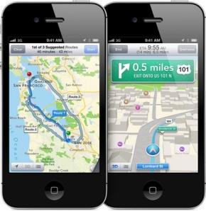 「マップ」アプリのナビゲーション機能