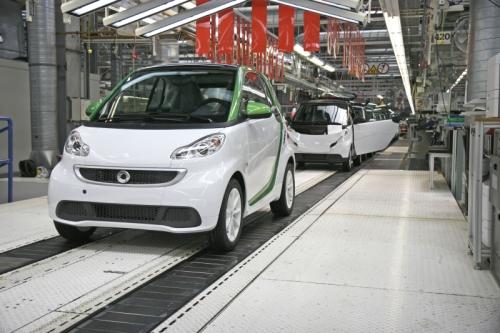 フランスHambachの工場で量産が始まった「smart fortwo electric drive(スマート電気自動車)」