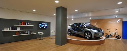 ロンドンの「i」ブランドのショールーム第1号店で披露された「BMW i3」のコンセプトモデル