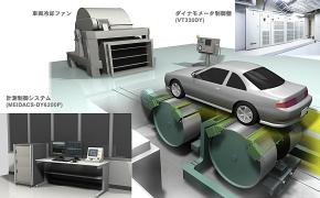 シャシーダイナモメーターを使った燃費計測のイメージ