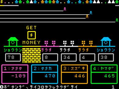コンソールだけで作ったゲーム画面
