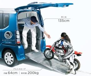 バイクなどの搭載が容易に