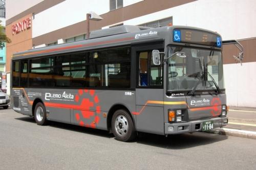 秋田県に導入された電気バス「ELEMO-AKITA」