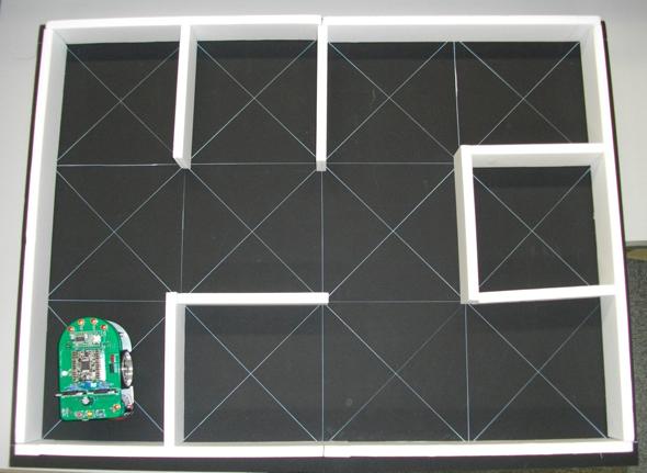 ハレパネで自作した4×3区画迷路