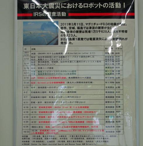 東日本大震災におけるロボットの活動