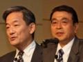 MONOistオートモーティブセミナーで講演した佐藤氏と小谷田氏