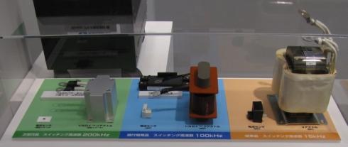 アルプス電気のSiCパワーモジュールを用いた双方向DC-DCコンバータの比較展示