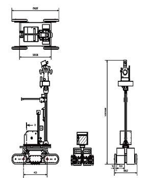 先行探査型ロボット「Sakura」