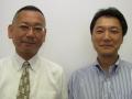 dSPACE Japanの清水圭介氏(右)とBTC Embedded Systemsの萩原勝氏