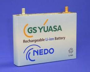 GSユアサが開発したPHEV用のリチウムイオン電池セル