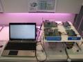 日立超LSIシステムズの大容量二次電池向けの電池監視IC「MD6902」を用いた展示
