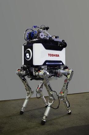 新開発の4足歩行ロボット