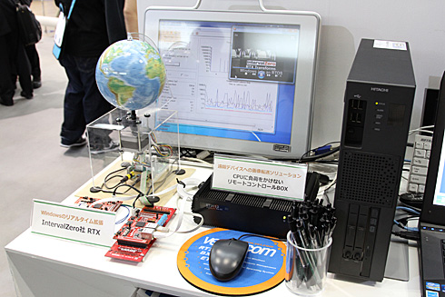 東京エレクトロン デバイスと富士通ソフトウェアテクノロジーズによる「リモートコントロールボックス」のデモ