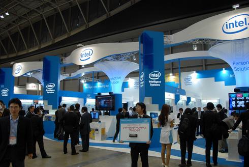 「ET2012」インテル・ブースの外観