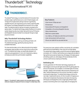 図2 ThunderboltのTechnology Brief