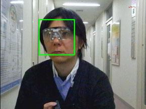 顔検出実行例:近赤外LED非点灯