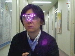顔検出実行例:近赤外LED点灯